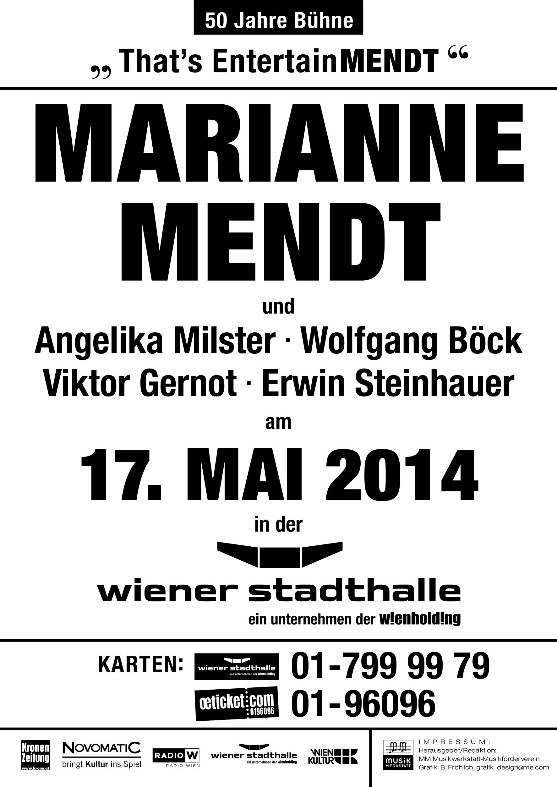 Konzert Plakat 2014 2. Fassung - Marianne Mendt